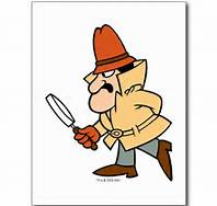 Inspector with magnifying glass